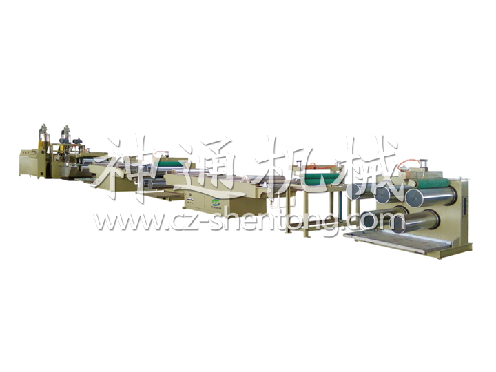Plastic double color artificial turf monofilament production line